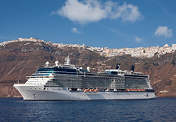 Celebrity Reflection in Santorini