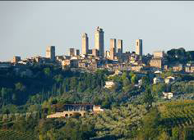 San Gimignano from our agriturismo